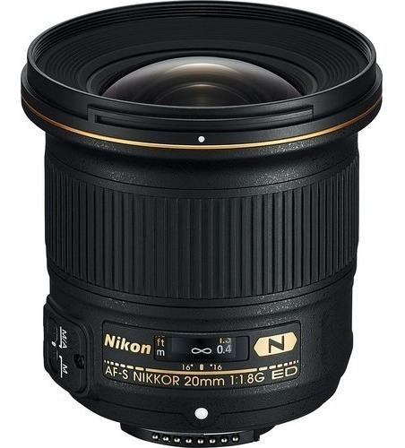 Lente Nikon Af-s Nikkor 20mm F/1.8g Ed - Lj. Platinum