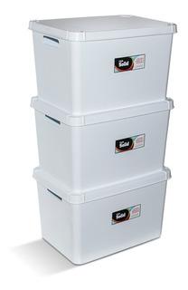 Cajas Plasticas Solid X 3 Unidades 20lts