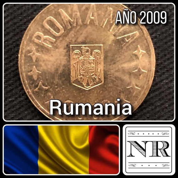 Rumania - 50 Bani - Año 2009 - Km # 192 - Aguila + Estrellas