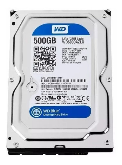 Hdhd Wd 500gb Sata Blue