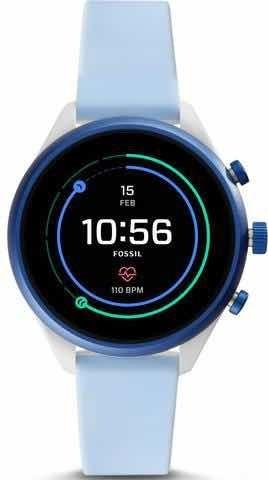 Relógio Smart Fossil Feminino Em Silicone Azul