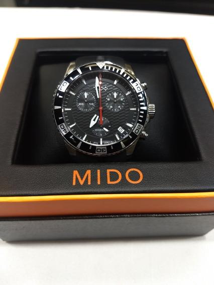 Reloj Mido Ocean Star Cronógrafo De Caucho Ref M011417 A