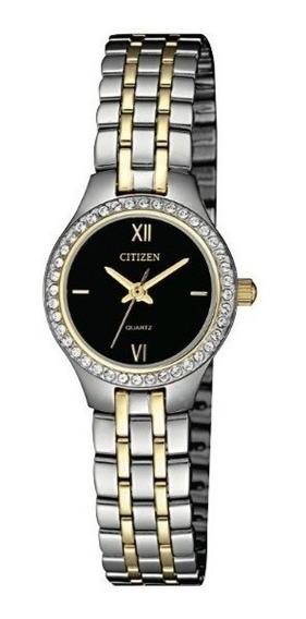 Reloj Citizen Mujer Clasico Cristal Pila Acero Ej614456e