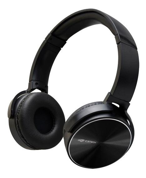 Headset C3 Tech Dobrável, Com Microfone Ph-110 Preto