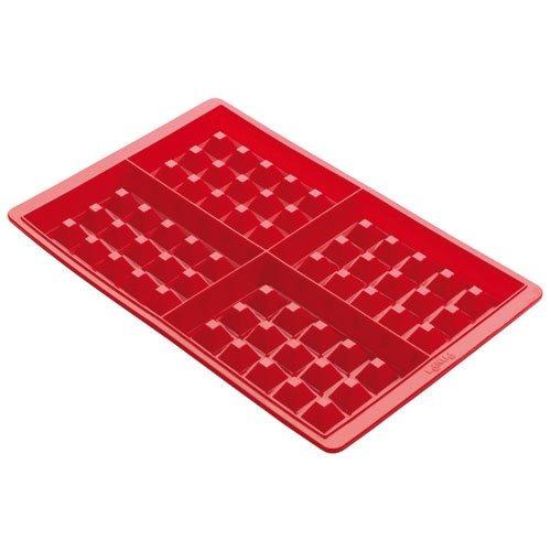 Imagen 1 de 8 de Lekue Silicone Waffle Mold Modelo 0215000r01m017 Red Set De