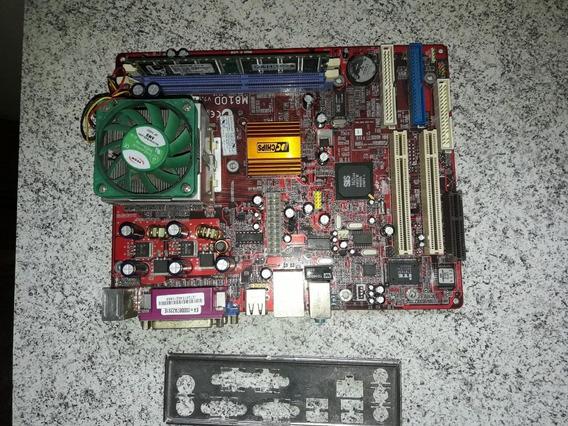 Kit Placa Mãe Pcchips M810d V7.5 A + Duron 1.20 Ghz
