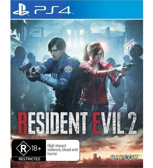 Jogo Resident Evil 2 - Ps4 - Re 2 Novo Lacrado Midia Fisica