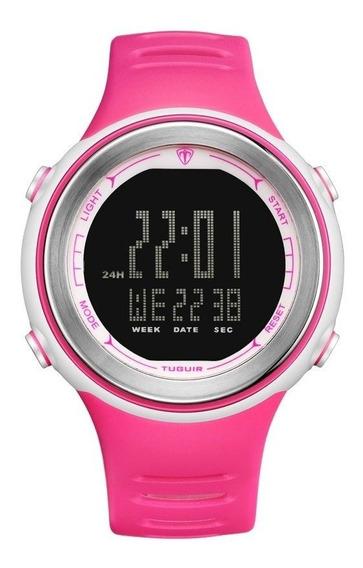 Relógio Digital Feminino Tuguir Tg001 - Rosa