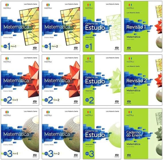 Coleção Completa Matemática Dante Projeto Múltiplo 12 Livros