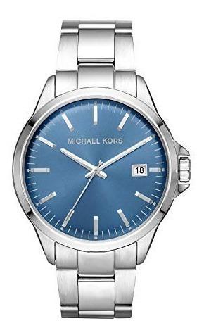 Relógio Masculino Michael Kors Original Fundo Azul Mk8626