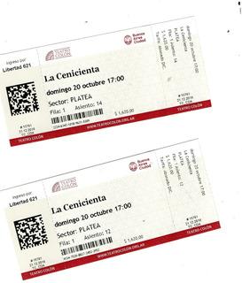 Entradas Teatro Colon Ballet La Cenicienta