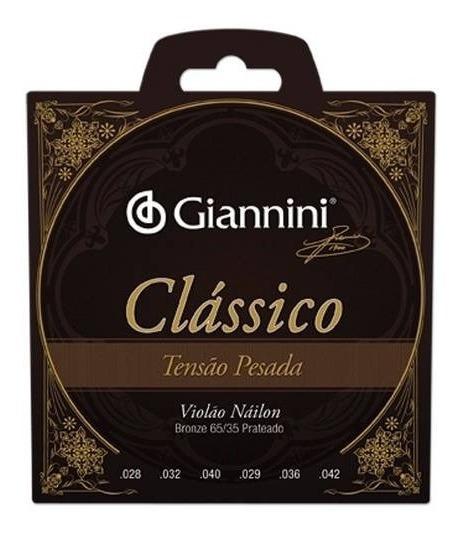 Encordoamento Violao Classico Nylon Giannini Alta Genwpa