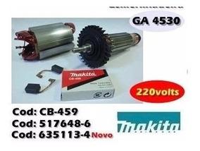 Induzido + Estator + Carvao Esmer Ga4530 220v Makita