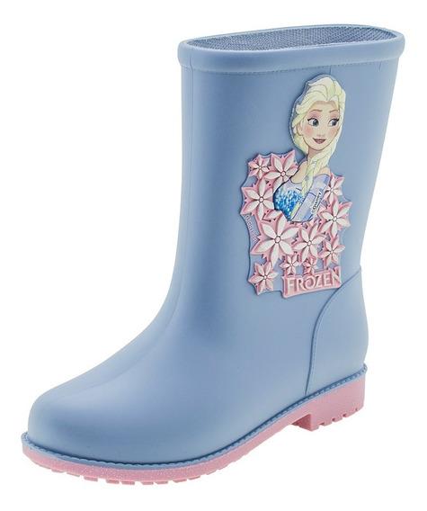 Bota Infantil Feminina Frozen Fashion Azul Grendene Kids - 2