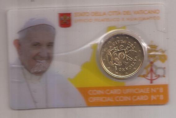 Vaticano Moneda 50 Centavos De Euro Año 2017 Papa Francisco