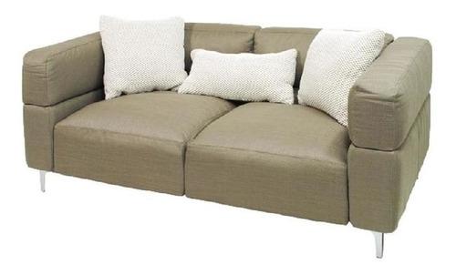 Sofa De Dos Cuerpos Entelado En Tela Gris A1044-5a