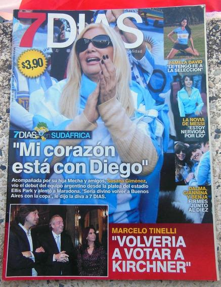 Revista Argentina 7 Dias Shakira Susana Gimenez - 14/06/2010