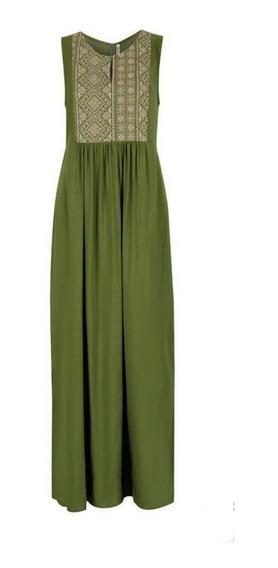 Vestido Verde 15-328 Rinna Primavera-verano 2020