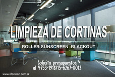Limpieza De Cortinas Roller Sunscreen/blackout