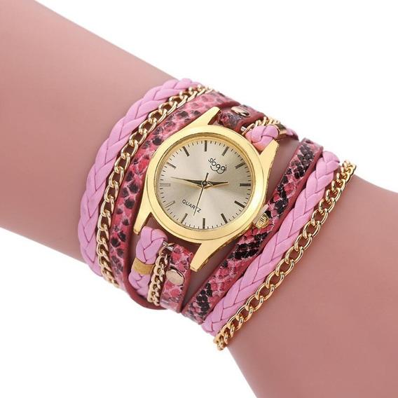 Kit 4 Relógios Feminino Bracelete Pulseira Couro