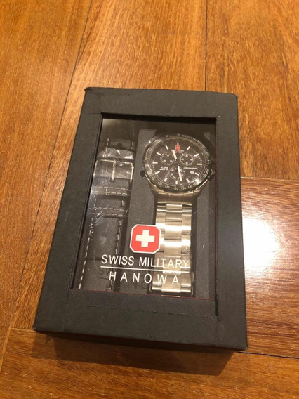 Relógio Swiss Military Hanowa Chronograph Com Pulseira Extra