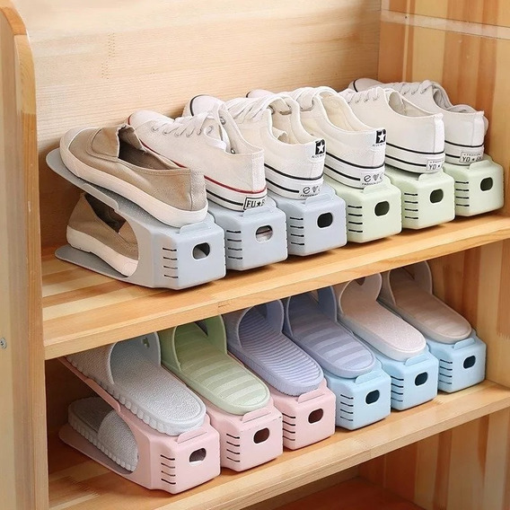 Kit 10 Organizador Rack Sapato Sapateira Praticidade