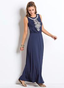 Vestido Longo Verão Azul