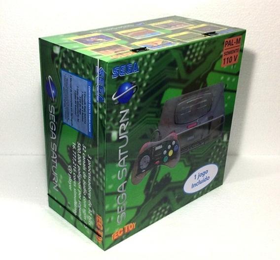 Caixa Vazia Sega Saturno Skeleton Em Madeira Mdf