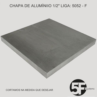 Chapa Em Alumínio 5052 - F 1/2 X 500mm X 1000mm