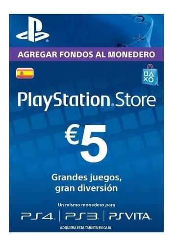 Imagen 1 de 2 de Tarjeta Psn 5 Euros España Entrega Inmediata!! Ade Ramos
