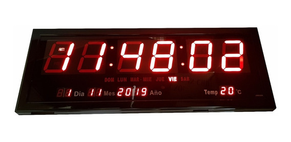 Reloj Digital Para Pared, Led Gigante