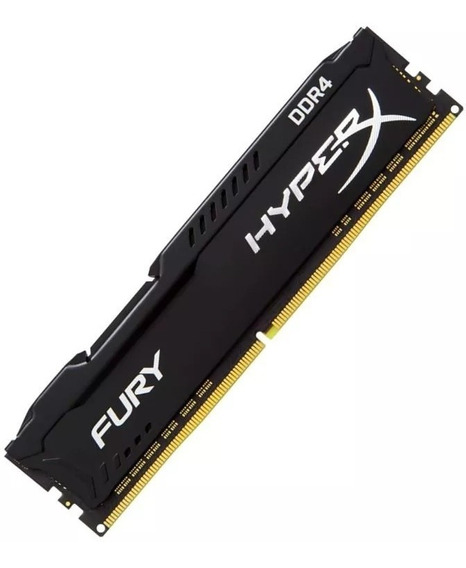 Memoria Ddr4 8gb 2666mhz Kingston Hyperx Fury Preta Black