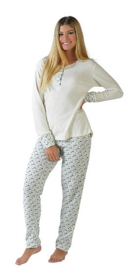 Pijama Invierno De Mujer 2 Piezas Estampado. 2018