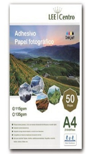 Pack X6 Papel Foto Adhesivo 115gr Lee Centro 300 Hojas
