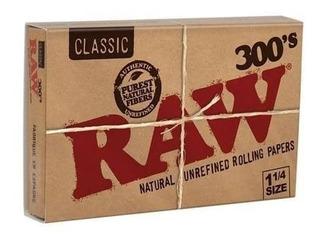 Papel Para Liar Tabaco Raw 300 Classic Tamaño1 1/4 Rolar