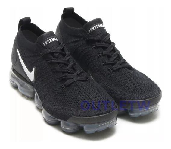 Tenis Nike Air Vapormax Flyknit 2.0 Original Black And White