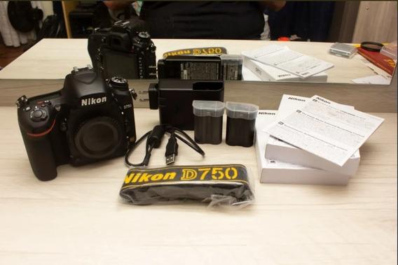 Câmera Nikon D750 - Nova 3k Cliques + 2 Baterias + Lente 35m