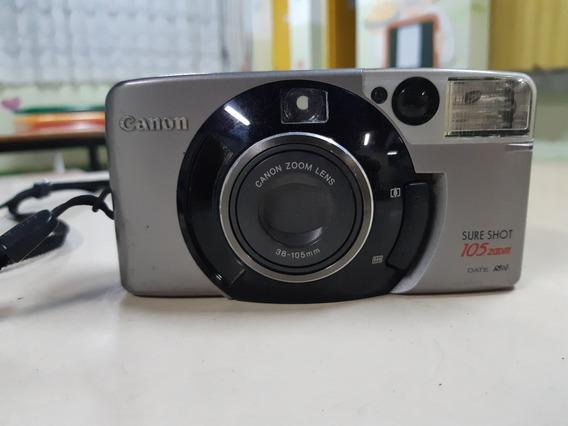 Câmera Analógica Máquina Fotográfica Canon Sureshot 105 Zoom