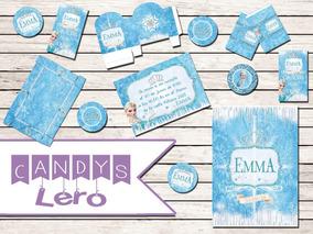 Kit Imprimible Princesa Frozen Elsacorona Shabby Candy Bar