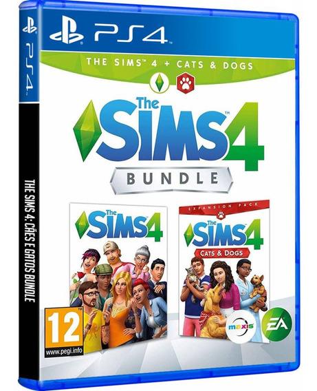 Game The Sims 4 Cães E Gatos Completo Ps4 Disco Fisico Original Português Barato