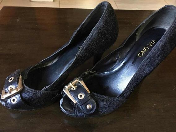 Zapatos Vía Uno Pelo De Vaca !!