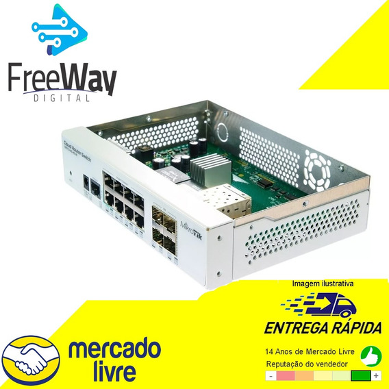 Mikrotik Cloud Router Switch Crs112-8g-4s-in Novo C/nf