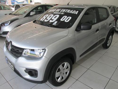 Renault Kwid Completo Unico Dono Zero De Entrada