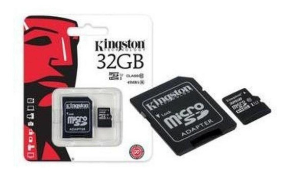 Cartão De Memória Kingston Microsd 32gb Adaptador