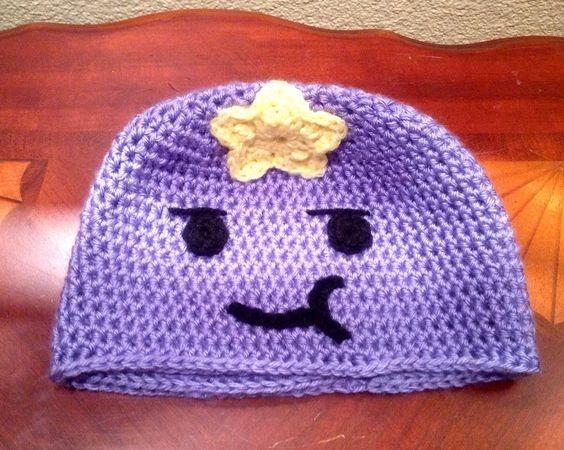 Gorro Hora De Aventura Bebés, Niños Y Adultos Crochet