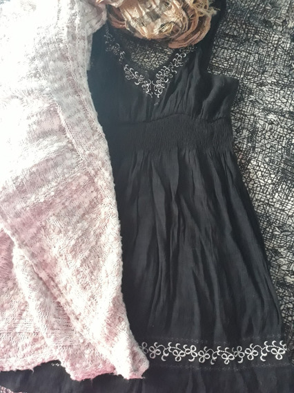 Vestido Negro Bordado