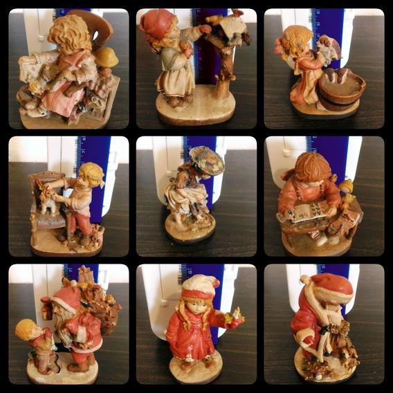 Coleção Escultura Boneco Dolfi Madeira Italiana Antiga