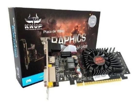 Placa De Vídeo Geforce Gt210 1g Knup Pci Express