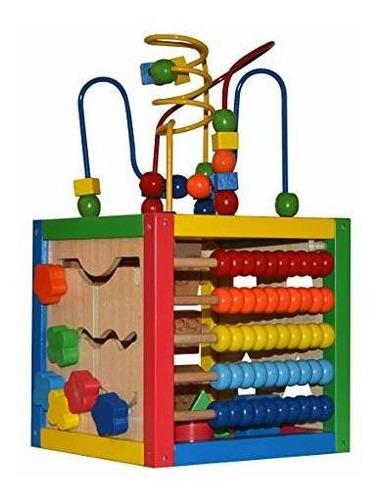 Imagen 1 de 4 de Play22 Activity Cube With Bead Maze - 5 In 1 Baby Activity C