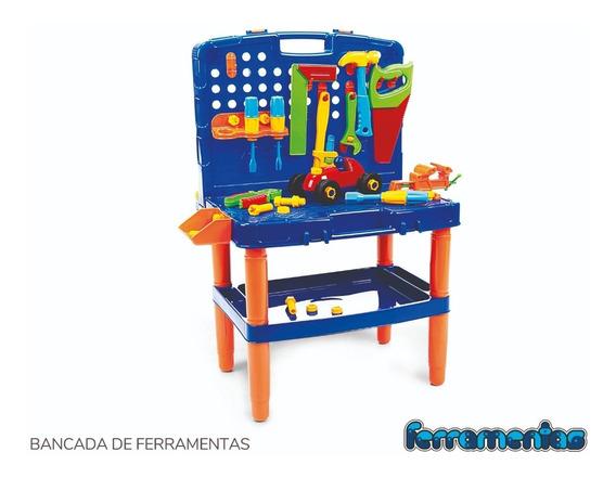 Bancada Maleta De Ferramentas Brinquedo Infantil Didático